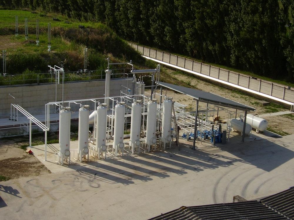 Impianto Tecnogas veduta esterna deposito gpl e metano
