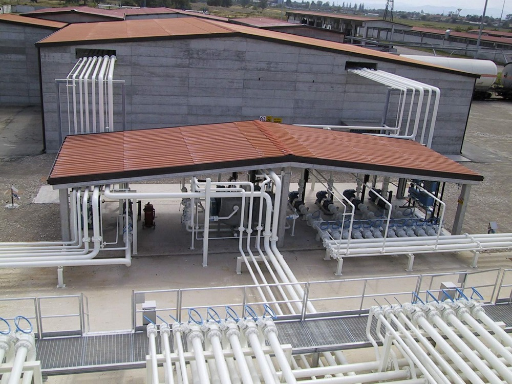 Impianto Tecnogas vista dall'alto