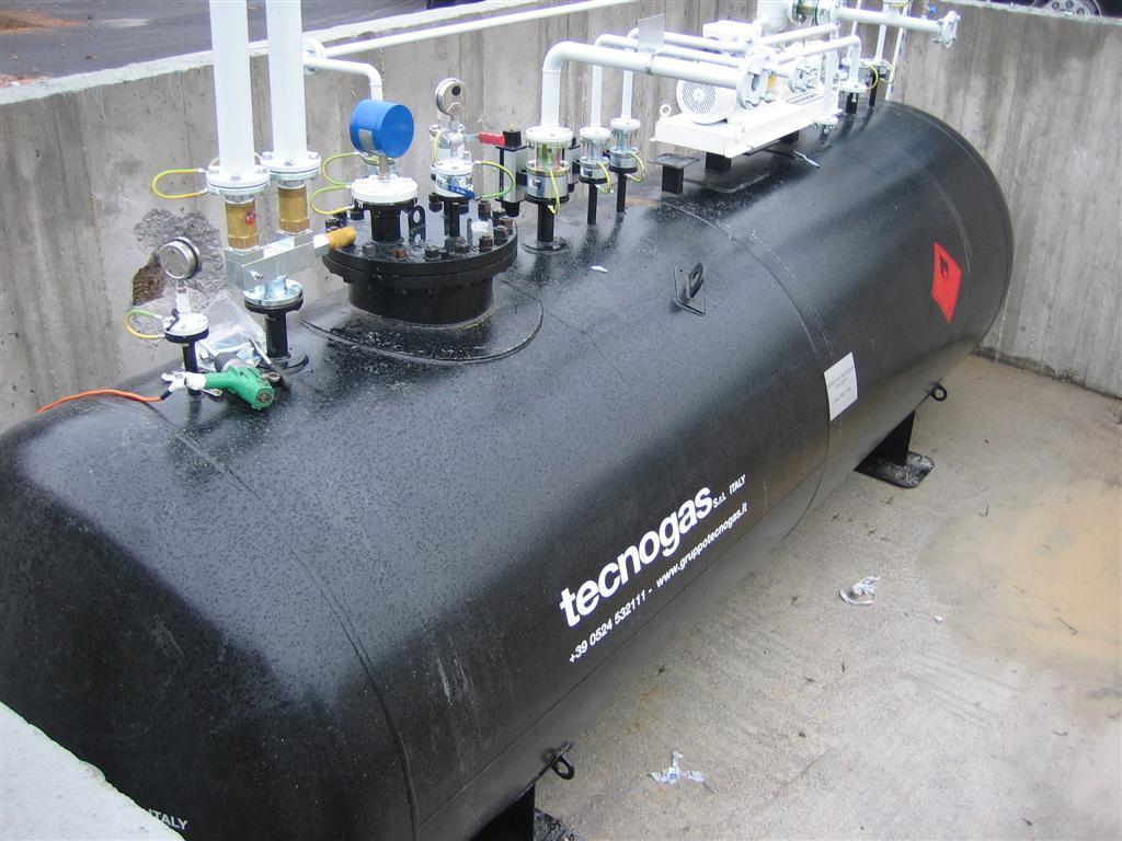 Serbatoio di gas Tecnogas nero