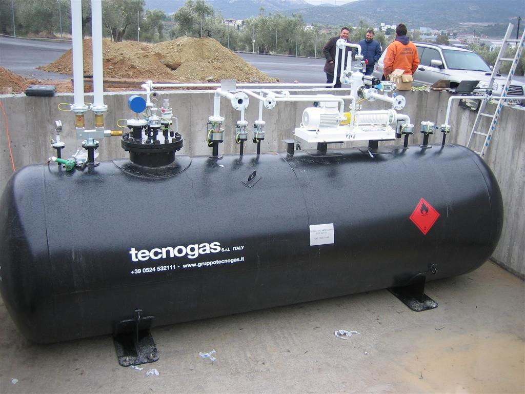 Bombola di gas Tecnogas nero