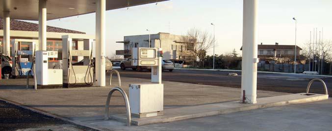 Distributore impianto di gpl e metano