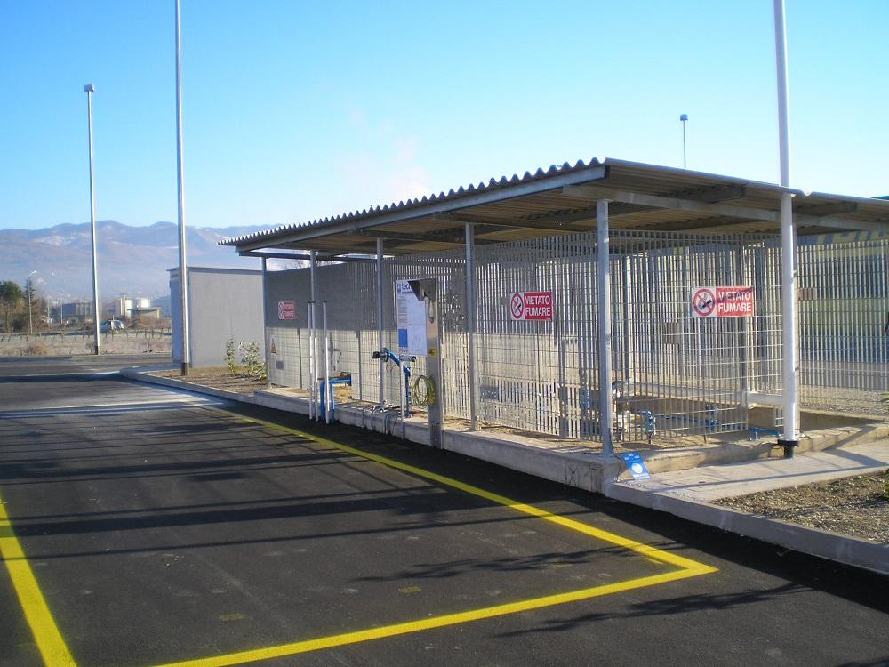 Particolare impianto Tecnogas per stazioni di servizio
