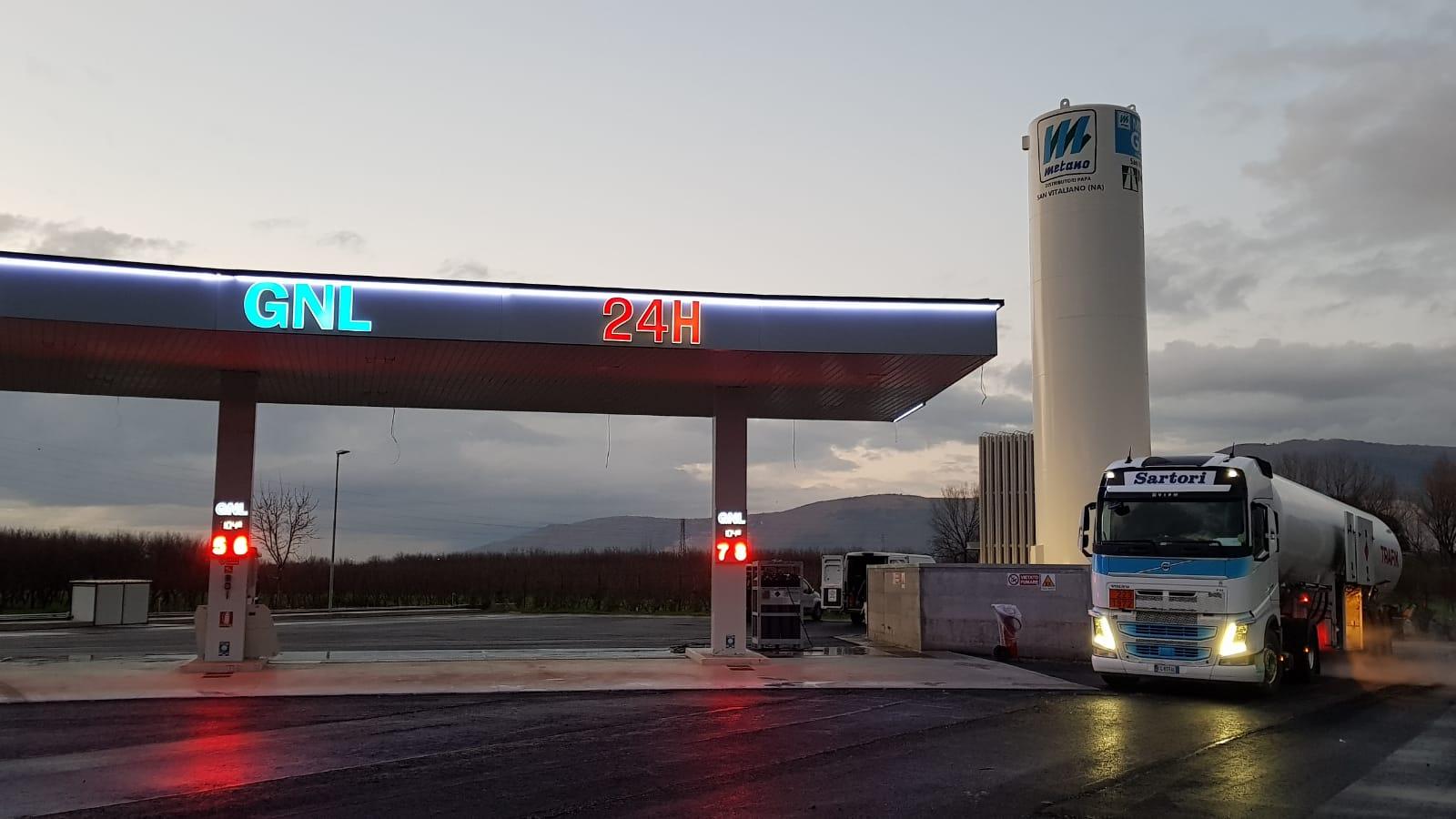 Inaugurata la nuova stazione di servizio GNL di S. Vitaliano (NA) Video